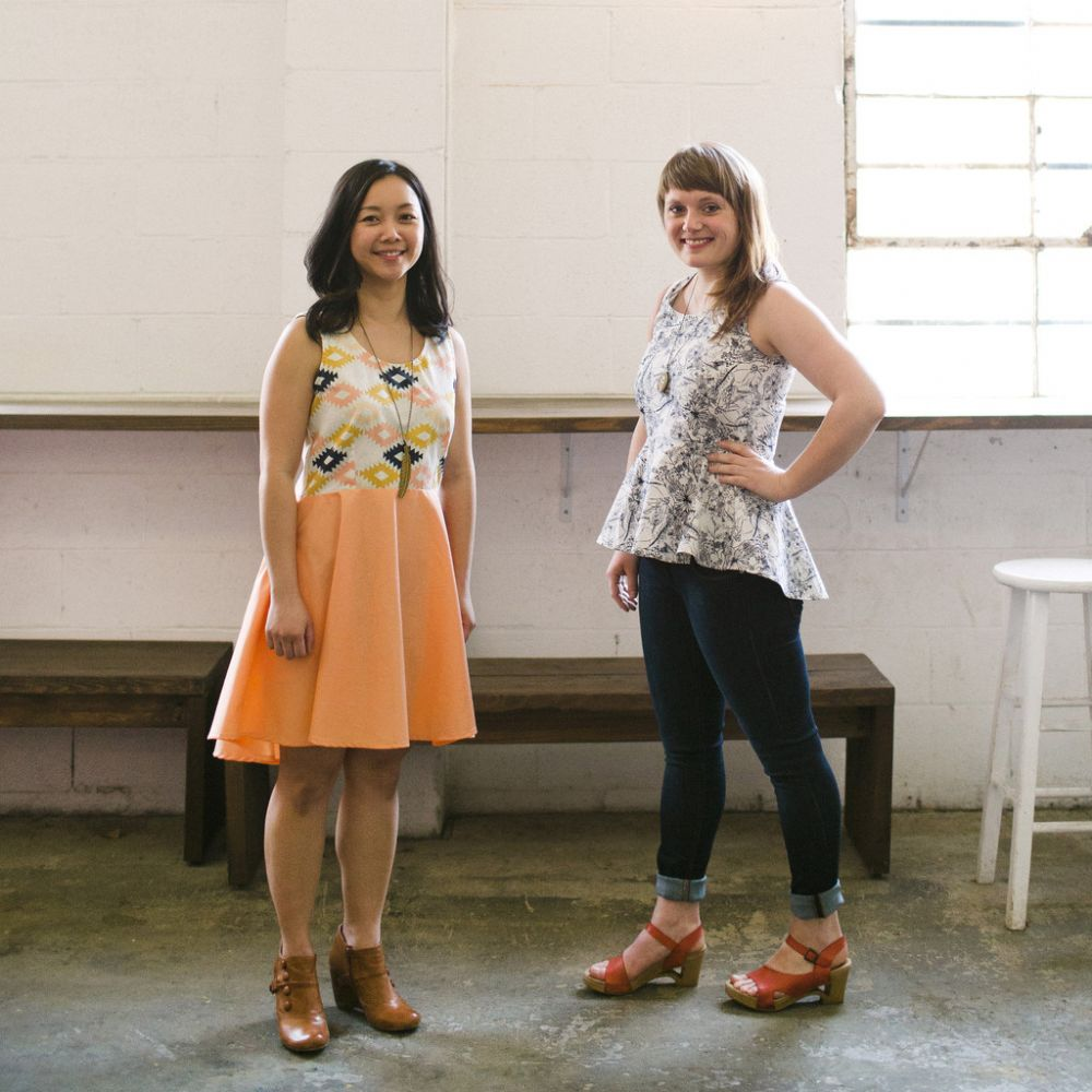The Riding Peplum and Party Dress - April Rhodes sewing patterns